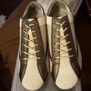Bronze Mettalic Calvin Klein Branded Sneakers. 10M